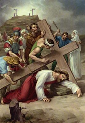 Image of Ninth Station: Jesus falls a third time