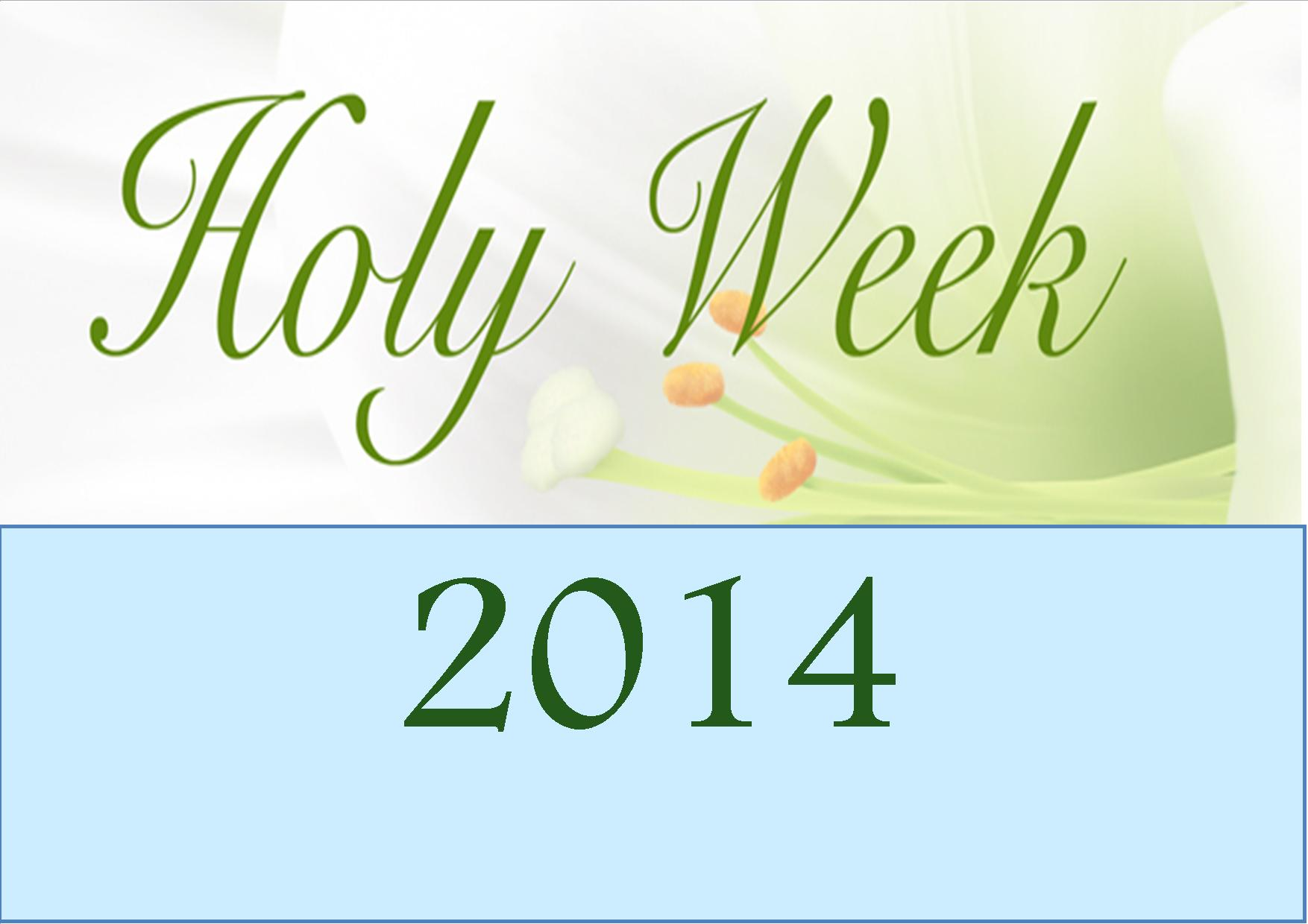 Holy Week The Easter Triduum