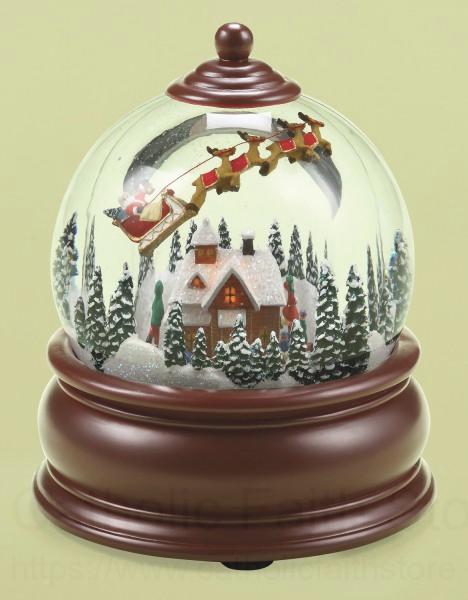 Christmas Snow Globe With Santa Amp Reindeer