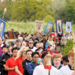 1,000 East Anglia pilgrims walk together at Walsingham