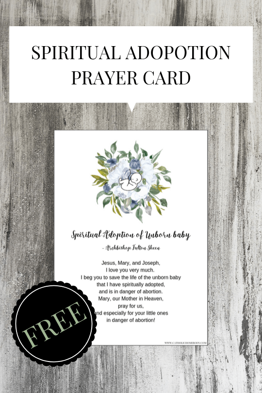 printable spiritual adoption prayer