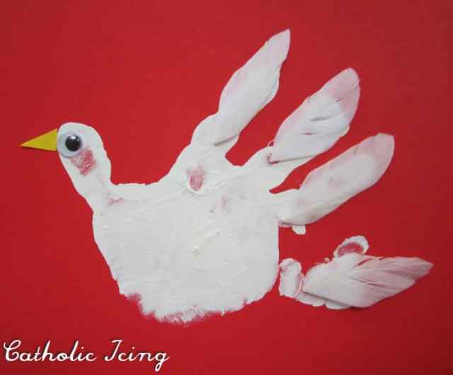 holy spirit handprint craft