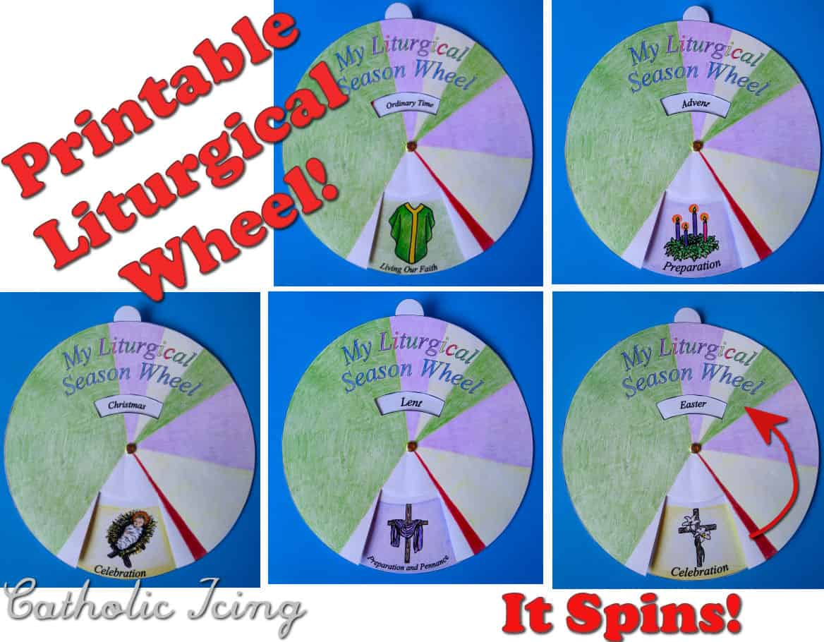 Liturgical Calendar Printable Craft For Catholic Kids