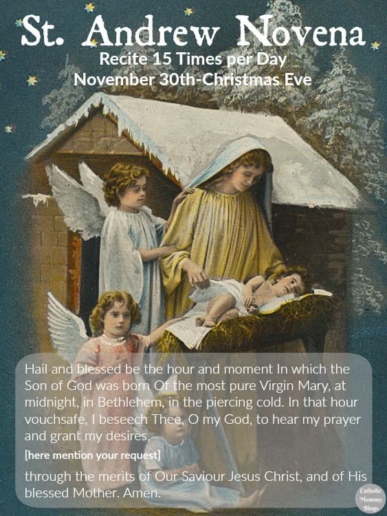 St Andrew Novena free printable and ideas to celebrate Advent for Catholic families