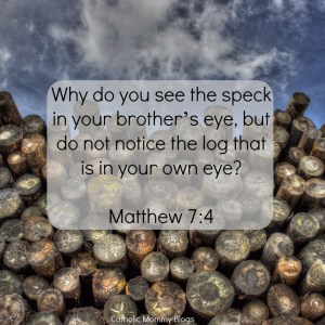 Matthew 7:4 Scripture verse and inspirational message