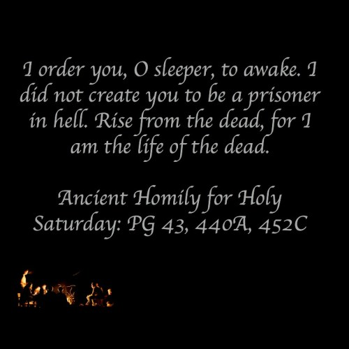 Jesus descended into Hell, apostles creed, Holy Saturday
