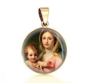 Mother Mary and Child pendant