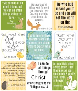 Printable Catholic Lunch Box Notes