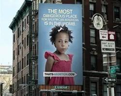 The billboard Life Always is sponsoring in SoHo