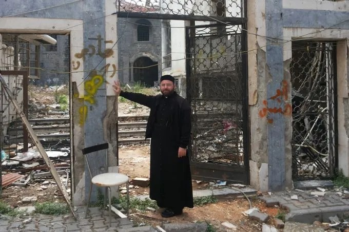 The remains of St. Mary's Syrian Orthodox parish in Homs, Syria. Credit: Syrian Orthodox Diocese of Homs. Photo courtesy of the Aid to the Church in Need.