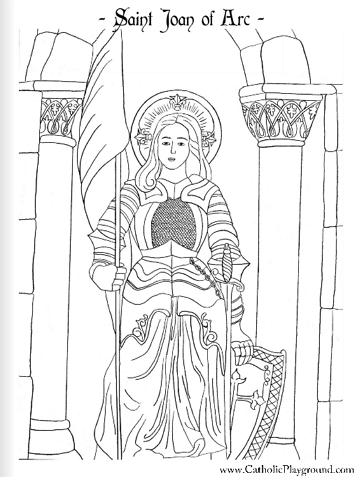 Image result for joan of arc coloring page