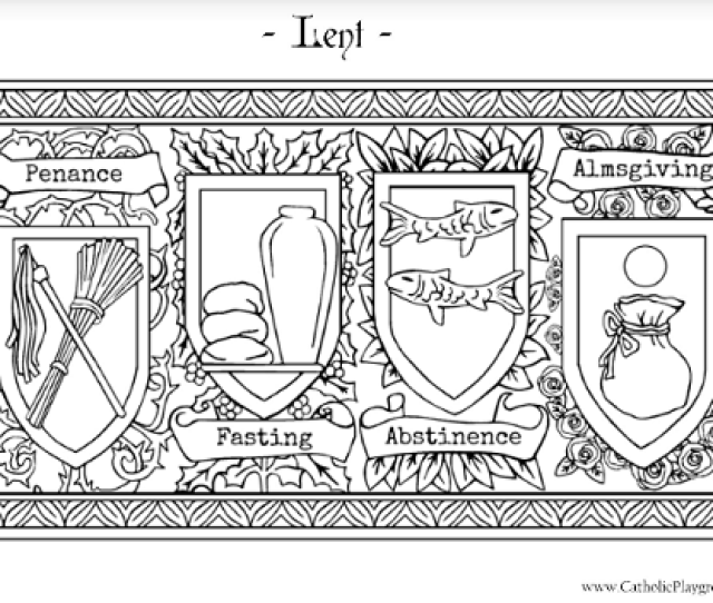 Lenten Coloring Page Catholic Playground