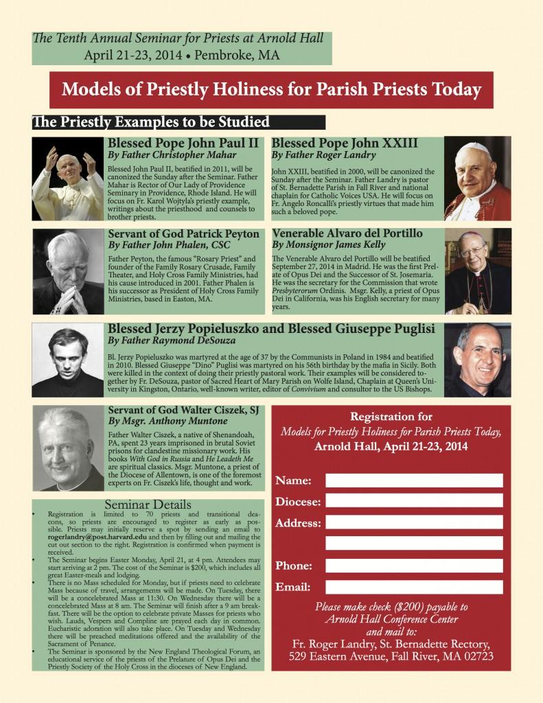 2014 Seminar for Priests Poster