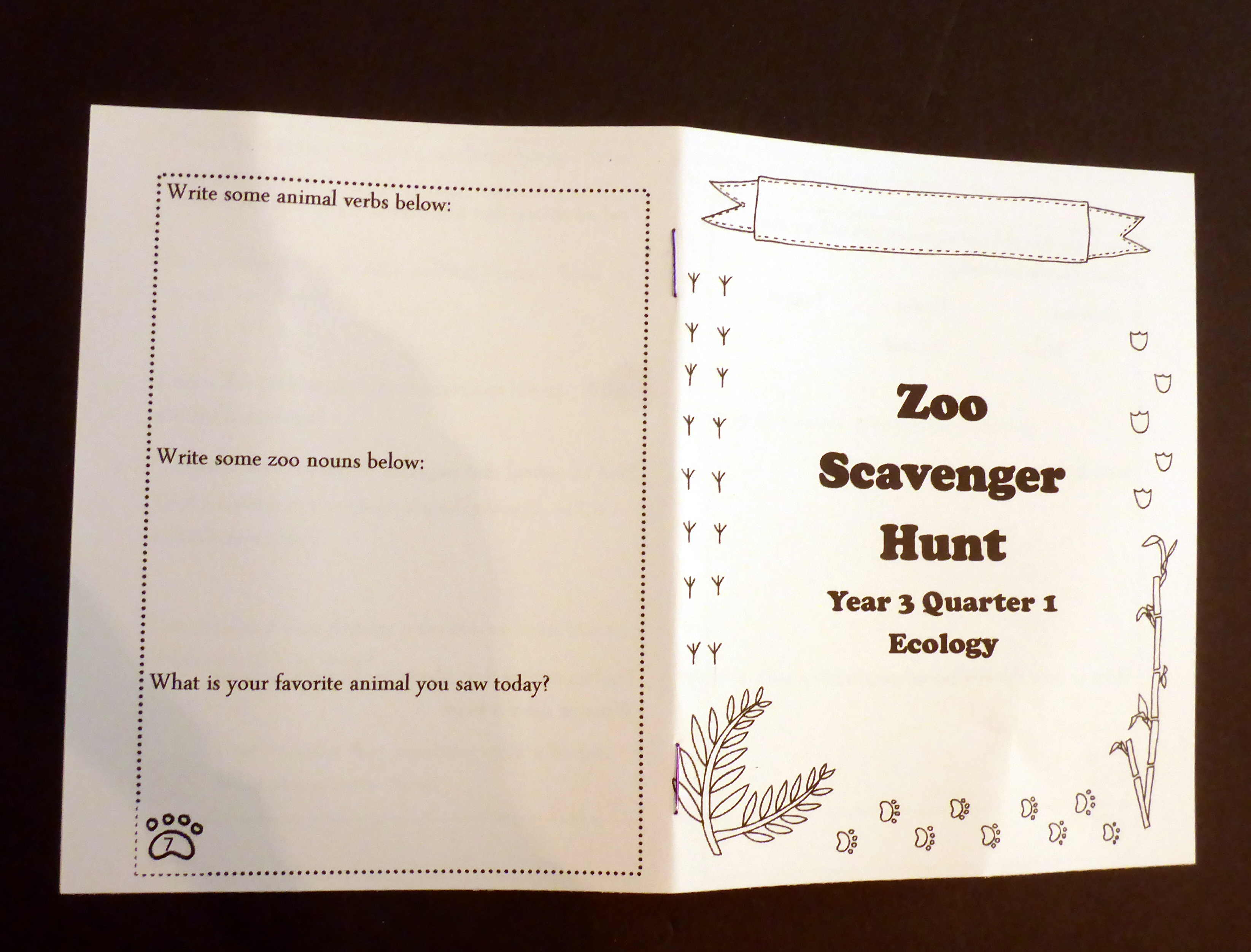 Zoo Scavenger Hunt Printable For An Ecology Field Trip