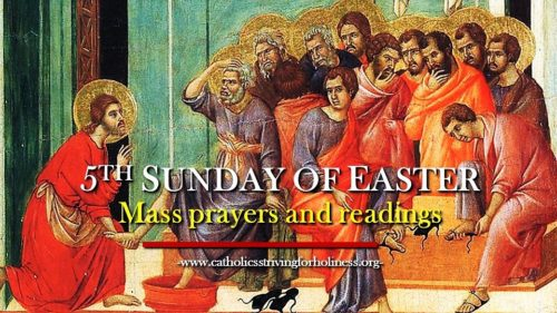5th Sunday of Easter. MASS PRAYERS AND READINGS.