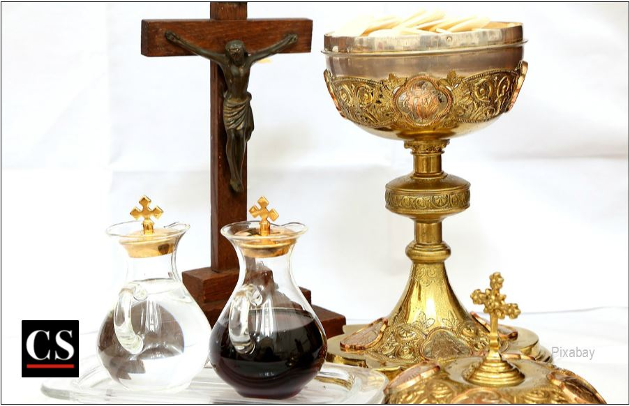 eucharist, mass, gifts, offering, crucifix