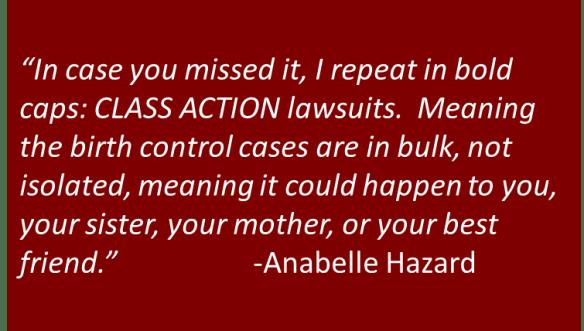 Anabelle Hazard - Class Action