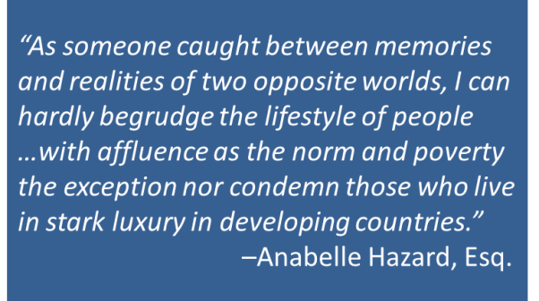 Anabelle Hazard - Poverty