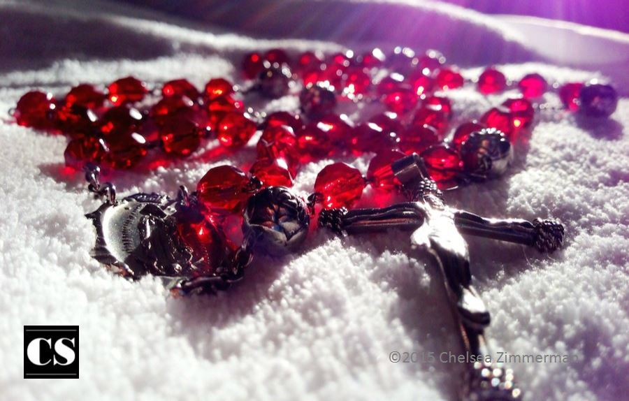 Chelsea - red rosary