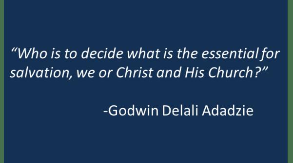 Godwin Delali Adadzie - Baptism