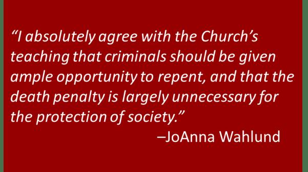 JoAnna Wahlund - Death Penalty