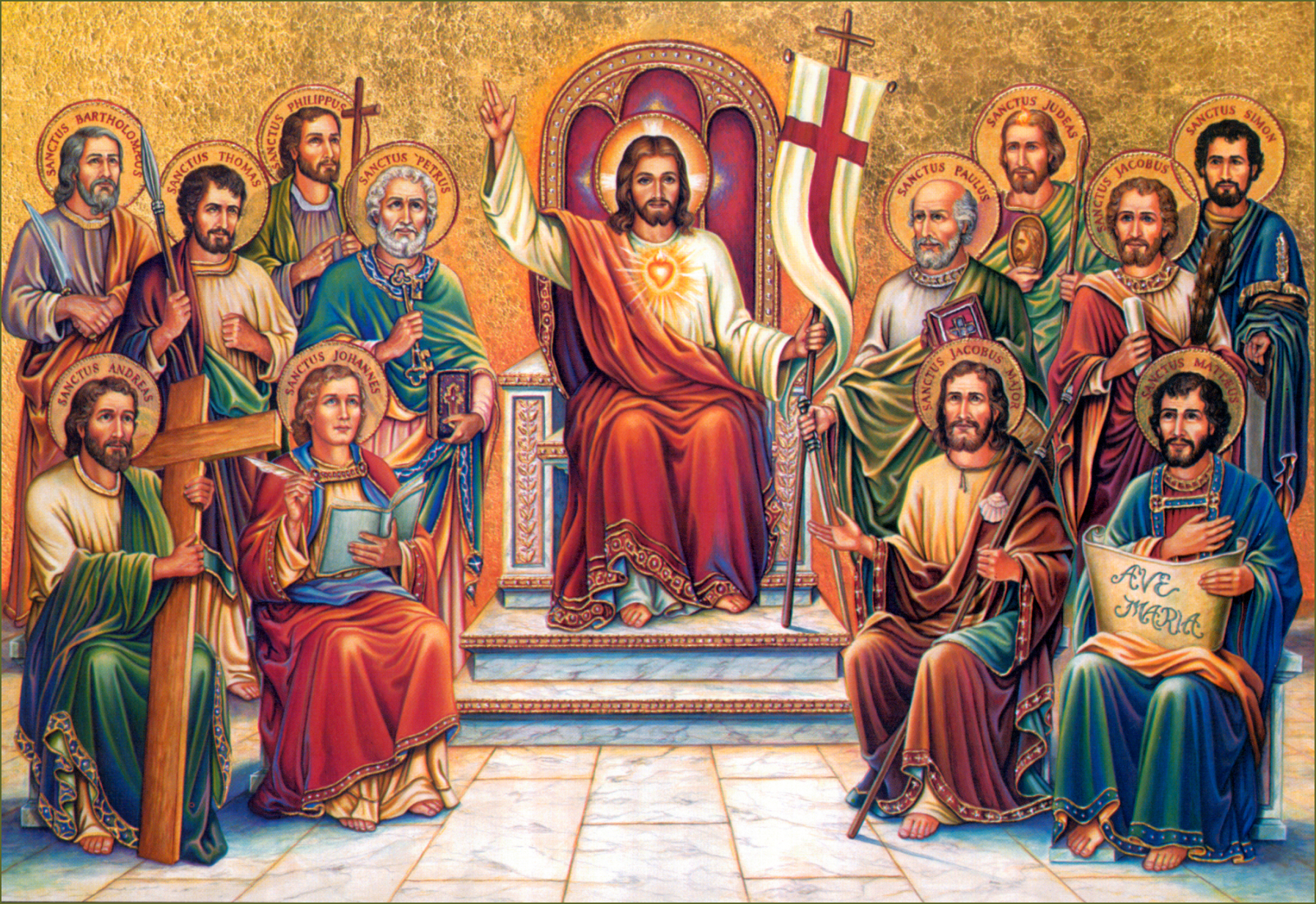 CHRIST THE KING WITH APOSTLES