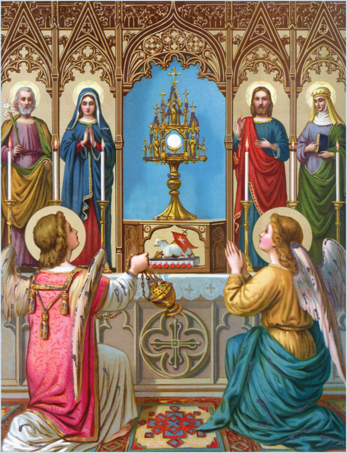 Image result for free pictures of Angels adoring the Eucharist