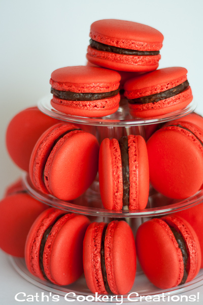 Cherry Ripe Macarons from Cath's Cookery Creations!   www.cathscookerycreations.com