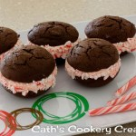 Christmas Candy Cane Whoopie Pies from Cath's Cookery Creations! | www.cathscookerycreations.com