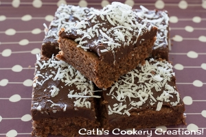 Chocolate Coconut Slice from Cath's Cookery Creations! | www.cathscookerycreations.com