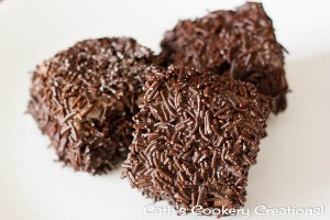 Triple Chocolate Lamingtons from Cath's Cookery Creations! | www.cathscookerycreations.com