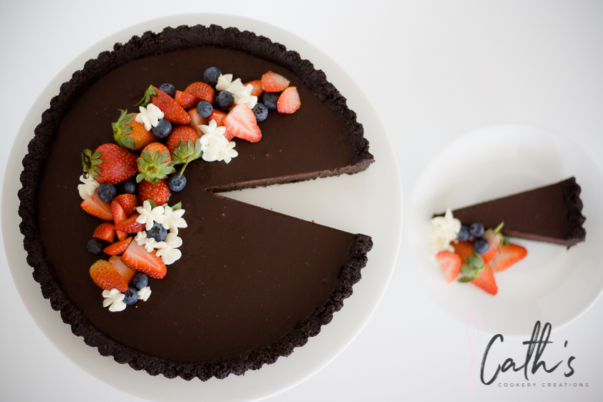 No Bake Oreo Chocolate Tart from Cath's Cookery Creations | www.cathscookerycreations.com