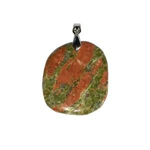 pendentif-unakite-pierre-plate-01