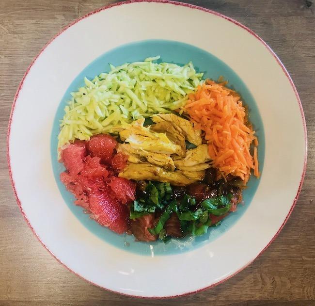 Salade de poulet aux agrumes