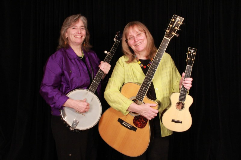 Cathy & Marcy with instruments