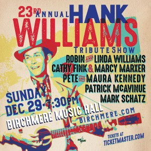 23rd Annual Hank Williams Tribute Poster Dec 29 2019
