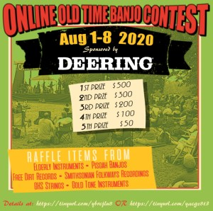 Registration Now Open, Submissions Due Aug 1-3 @ Online Old Time Banjo Contest Registration Now Open, Submissions Due Aug 1-3 | United States