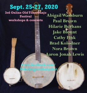 3rd Online Old Time Banjo Festival, Sept 25-27 @ Online Festival | Lansing | North Carolina | United States