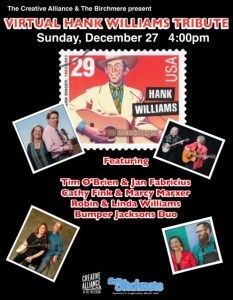Hank Williams Tribute w/Robin & Linda Williams, The Bumper Jacksons Duo, Tim O'Brien, and Jan Fabricius @ Virtual Creative Alliance | Baltimore | Maryland | United States