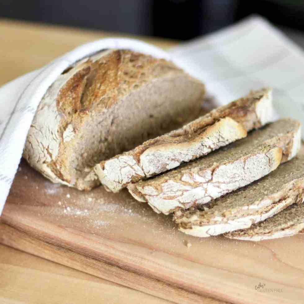 Crusty Artisanal Gluten Free Bread CathysGlutenFree.com