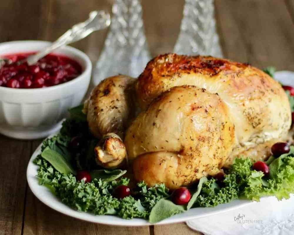 Flavourful, Crisp-Skinned, Moist Roast Chicken or Turkey CathysGlutenFree.com