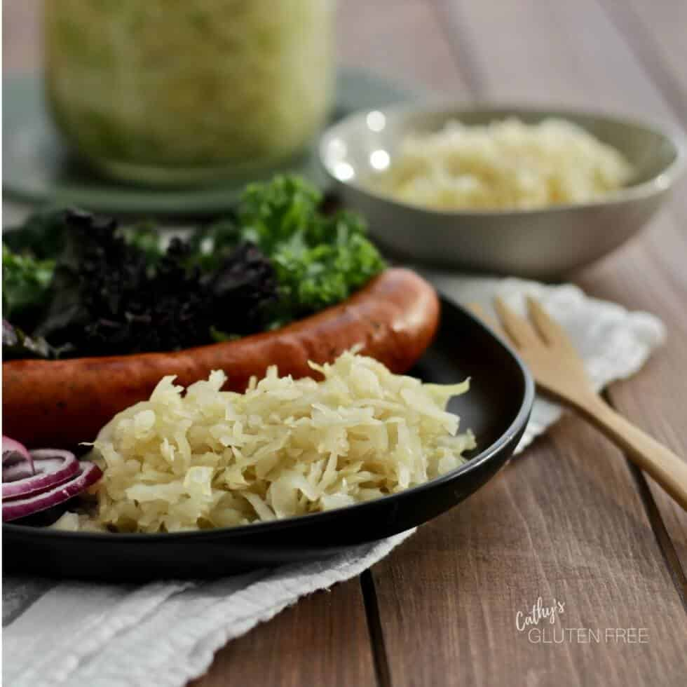 Make your own raw sauerkraut with two ingredients!