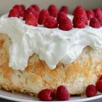 Gluten Free Angel Food Cake with 50% Less Sugar