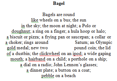 Bagel poem in a bagel shape