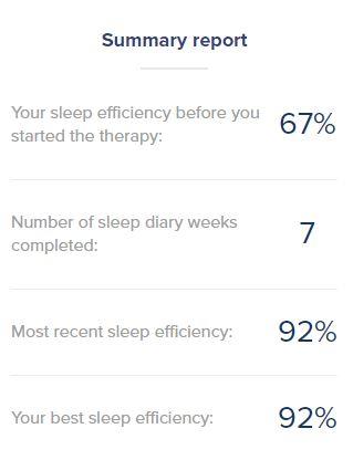 Sleepstation summary report