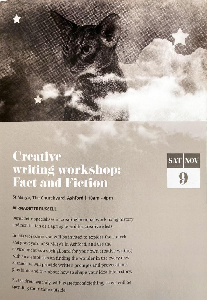 Creative writing workshop flyer