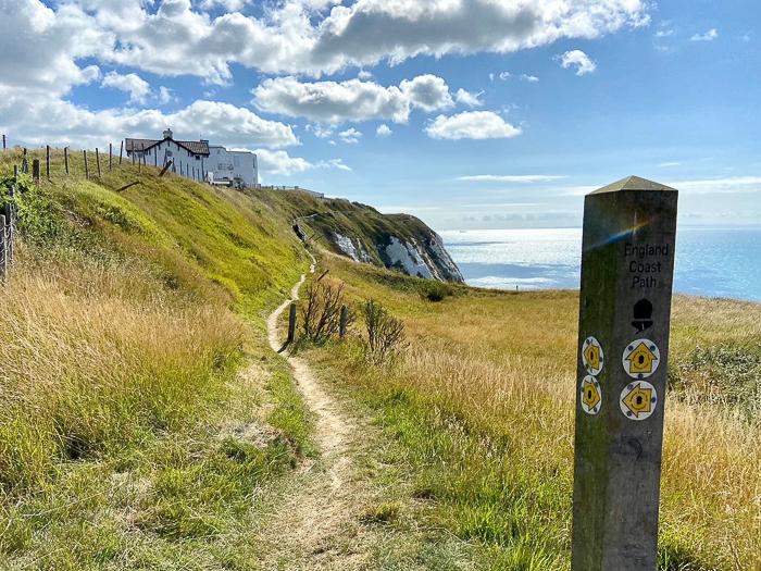 path along cliffs towards Dover