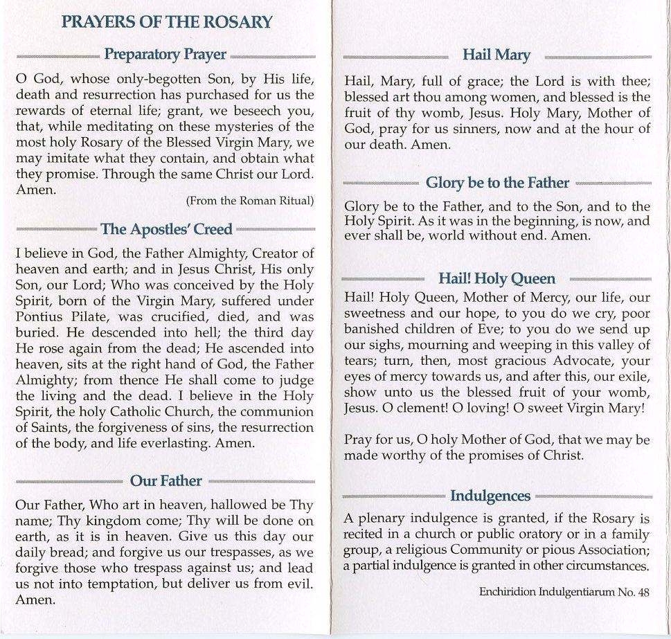 how to pray the rosary pdf printable