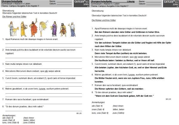 Schulaufgaben Latein Klasse 6 Gymnasium Campus Ausgabe A Catlux
