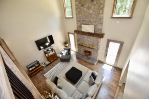 high ceiling fireplace remodel